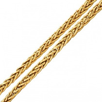 Monreale Linda Corrente Em Ouro 18k Palmeira 50cm