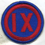 Patche, Us Army Ix 9th Corps 2ºguerra, Exercito Americano
