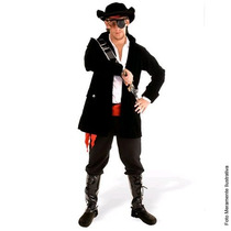 Fantasia Pirata Luxo Adulto Sulamericana Tam. M ( 40 A 42)