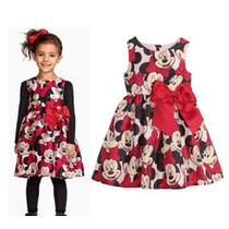 Vestido De Festa Da Minnie Importado 7/8 Anos