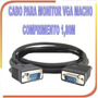 Cabo Vga Db15 Monitor Lcd Pc Notebook Projetor Blindado 2 Mt