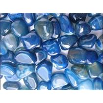 Frete Gratis Agata Azul Pedra Rolada 10 Pçs 15,00