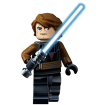 Boneco Lego Jedi Anakin Skywalker Star Wars Guerra Do Clones
