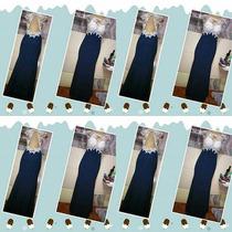 Vestido De Festa - Longo Sereia Azul Marinho