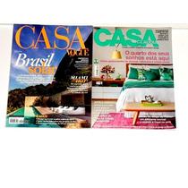 Casa Vogue+casa Claudia 2 Revistas Sem Uso\excelente Estado