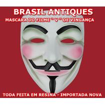 Brinquedo Mascara Réplica Perfeita Filme V Vingança Deluxe