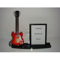 Porta Retrato 10x15 Com Miniatura De Guitarra Sg
