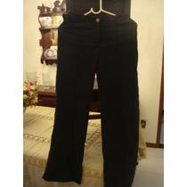 Mng Calça Preta Social Tam. 36 Pantalona Detalhe Cinto Mango