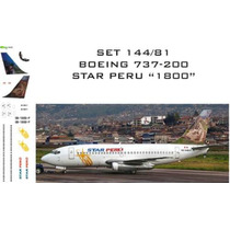 Rbx-set Decais Boeing 737-200 - Star Peru - 1800