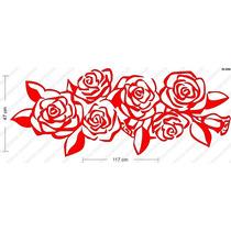 Adesivo De Parede Decorativos Buque Rosas Lindo Grande Sala
