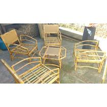 Jogo De Cadeiras (bambu) Completo