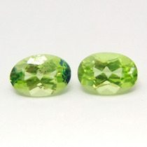 1.15ct! Lindo Par De Peridotos Ovais Natural!