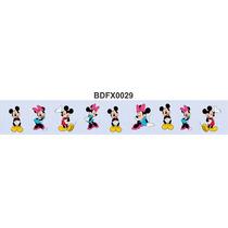 Adesivo Bdfx0029 Mickey E Minnie Border Faixa Decorativa