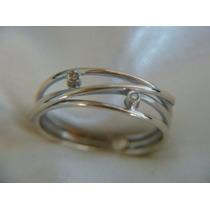 Ivi1388 = Anel *vivara* O.branco 18k Diamantes!col.hawai !