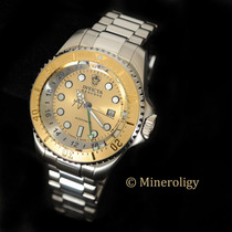 Invicta Reserve Hydromax 18k Gold Ip Swiss Gmt Silver 16962