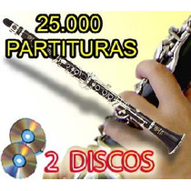 Biblioteca Do Clarinete 25000 Partituras 2 Dvds Envio Gratis