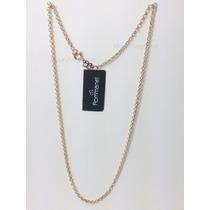 Cordão Rommanel Elo Português 42cm Dourado Love Femin 530609