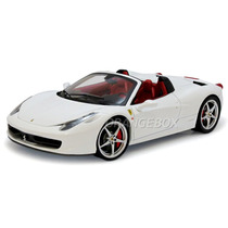 Ferrari 458 Spider 1:18 Hot Wheels Elite Branco W1178