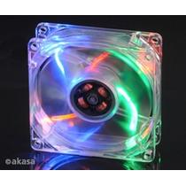 Cooler Fan 80mm Akasa Leds Coloridos Ak170cc-4ras 3/4 Pinos