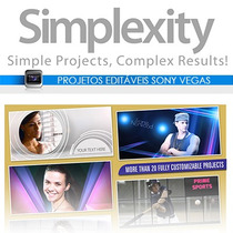 Projetos Editáveis Sony Vegas Simplexity Vol.01 Frete Gratis