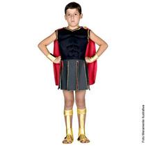 Fantasia Hércules Grego Sulamericana M ( 6 A 8 Anos )
