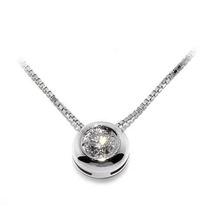 Solitário Com Diamante De 0,35 Pontos + Corrente Em Ouro 18k