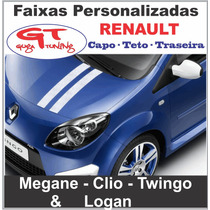 Jg. De Faixas Personalizadas P/ Carros Da Marca Renault