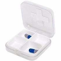 Porta Comprimidos - Quatro Repartições - Branco