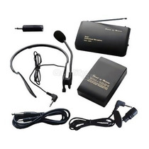 Kit Microfone Sem Fio Wireless Headset + Lapela Até 30mts