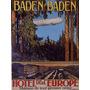 Hotel Europa Baden Cidade Arvores Montanha Poster Repro