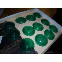 Lanternas Antigas Redondas - Par De Lentes Verdes Adaptação