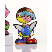 Romero Britto Mini Menina Cheryl Nova Coleção Miniaturas 6c