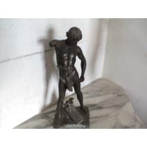Linda Estátua De Bronze De E. Picault
