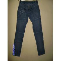 Ca045 - Calça Jeans Com Stretch Manequim 34/36 Da Footo