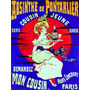 Mulher Bebida Absinto Paris França Poster Repro