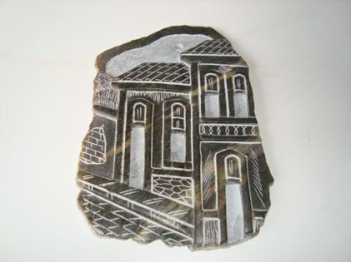Feira Artesanato Goiania ~ Placa Em Pedra Sab u00e3o Artesanal Cidade Rua De Ouro Preto R$ 30,00 em Mercado Livre