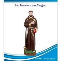 Imagens De Santos Católicos-são Fran. Das Chagas De Borracha
