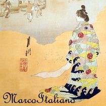 Antigo Ukio-e - Xilogravura Japonesa Ogata Gekko (1859-1920)
