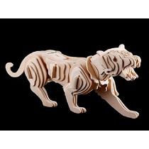 Esqueleto De Tigre P/ Montar - Quebra Cabeça 3d