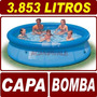 Piscina Inflável 3853 Litros Intex + Capa Cobertura + Bomba