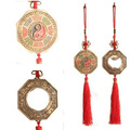 Baguá Zodíaco Chinês E Franjinha Com Espelho Feng Shui