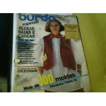 Revista Burda Nº08/86 Com Moldes Capa Danificada