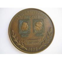 Medalha Americana Comemorando 125 Anos Do Selo 1847 -1972