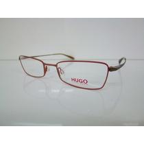 Armação Óculos Hugo Boss Hg 15606 Laranja E Marrom Unissex