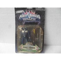 Power Rangers In Space Blue Time Force Boneco Com Acessórios