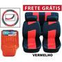 Kit Vermelho Tapetes +capas De Banco +volante + Frete Grátis