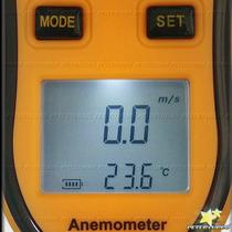 Anemometro Termometro Digital Medidor De De Vento E Temperat