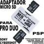 Psp - Adaptador Memory Stick Pro Duo P/ Microsd !!!