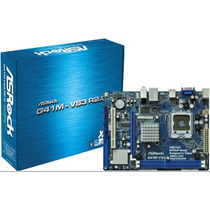 Kit Placa Mãe Asrock G41m-vs3 + Memoria 8gb Ddr3 #sp Retira