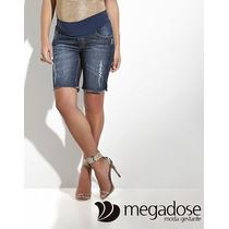 Bermuda Em Jeans Desfiado Frete Grátis